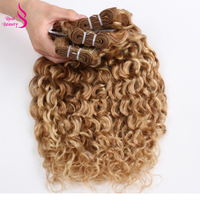Ombre P27/613 Water Wave 3 Bundles Brazilian Highlight Blonde Bundles Remy Human Hair Weave Bundles Real Beauty Two Tone 12 24