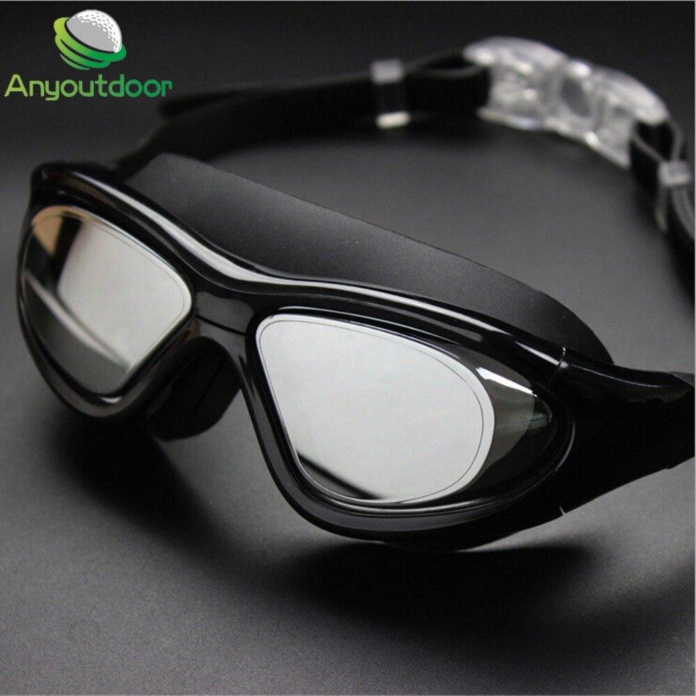 Neue Silikon Schwimmen Brille Schwimmbrille Anti Fog UV Große Rahmen ...
