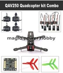QAV250 Quadcopter kit DIY 250 Carbon fiber Frame +Motor+ESC+Propeller +Power Board Drone DIY Combo