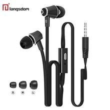Original Langsdom JM21 earphones with Microphone Super Bass Earphone Headset For iphone 6 6s xiaomi earphone smartphone