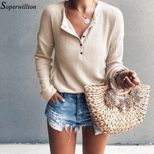 Oversize knitted t shirts women 2019 autumn spring long slee