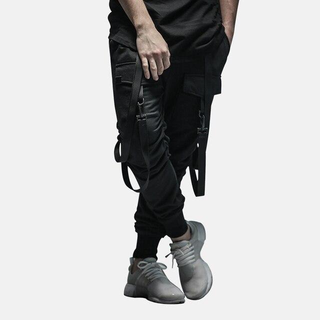 HEYGUYS 2018 New Dry Men's Pants pocket Full Length Men HIPHOP joggers Pants Plus Size Trousers  men belt women streetwear 28