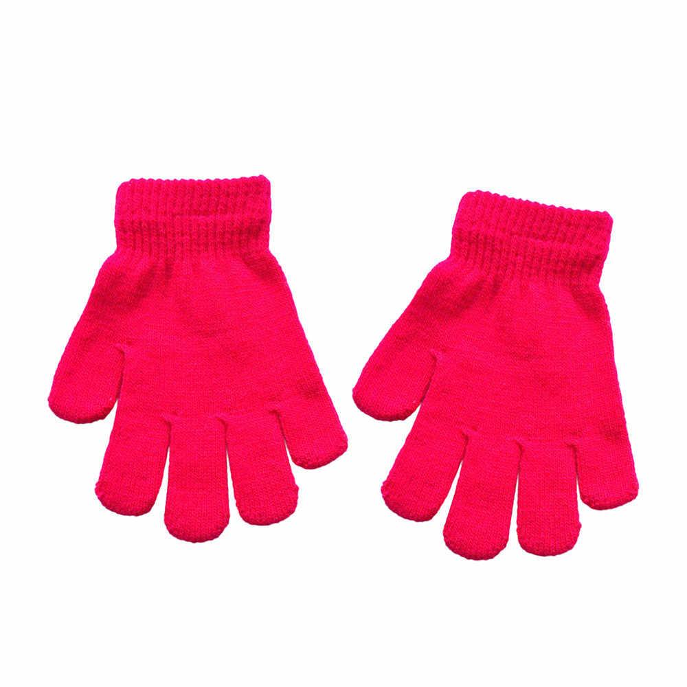 2020 الخريف الشتاء Hot البيع طفل لطيف الصلبة طباعة الساخن الفتيات الفتيان من الشتاء قفازات دافئة للأطفال الذين تتراوح أعمارهم بين 5 إلى 12 سنة # GMP