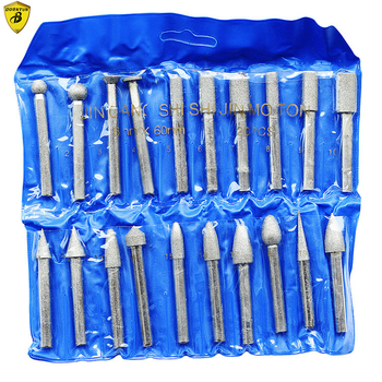 Borntun 20pcs 6mm Diamond Buffing Grinding Bits Accessory for Pneumatic Air Electrical Grinders Sanding Polishing Machine grinders woodworking lathes grinders woodworking machines polishing woodworking grinders