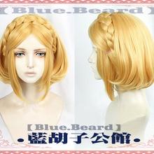 Game The Legend of Zelda: Breath of the Wild Princess Zelda Wigs Short Heat Resistant Synthetic Hair Cosplay Wigs+ Wig Cap