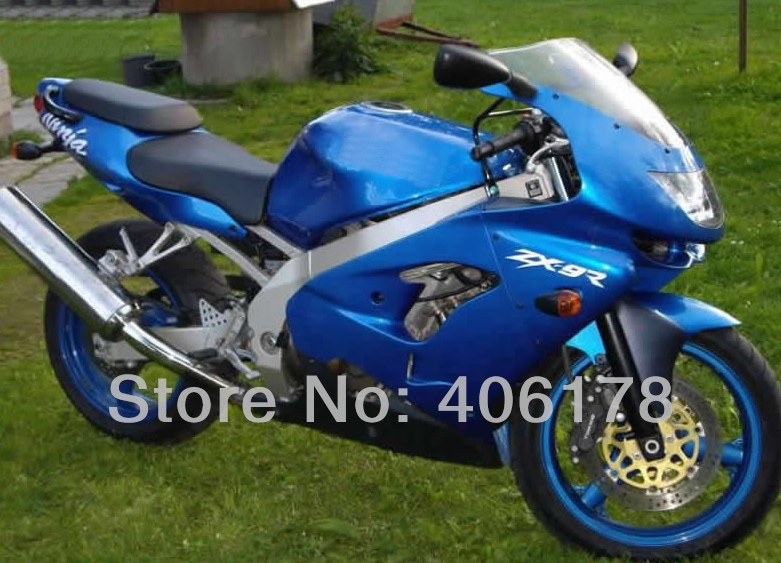 Hot Sales,Classical ZX 9R ZX9R 98 99 full fairing body kit For Kawasaki Ninja ZX9R 1998 1999 Light Blue Motorcycle Fairing Kit custom motorcycle fairing kit for kawasaki ninja zx9r 1998 1999 zx9r 98 99 black flames blue abs fairings set 7 gifts sg10
