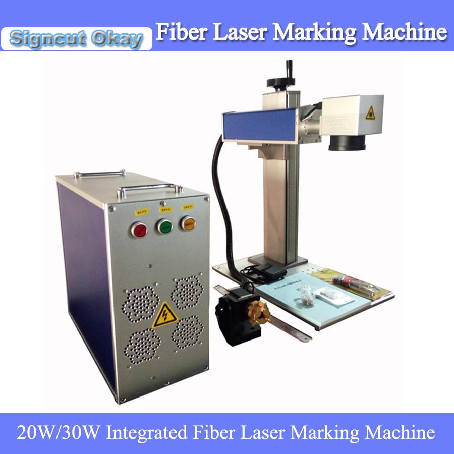 Portable Split Fiber Laser Metal Marking Machine Laser Engraving Machine 20W/30W Laser Power With Maxphotonics Laser Source