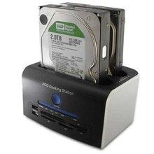 2.5 3.5 inch SATA Hard Disk Drive All in 1 USB 3.0 HDD Docking Station Clone USB HUB Card Reader