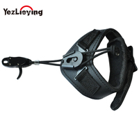 Hunting Adjustable Leather Wrist Strap Archery Bow Release for Compound Bow Accessory