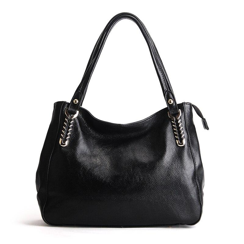 2017 New women casual totes top quality genuine leather shoulder bag cowhide skin ladies handbag fashion shopping messenger bag