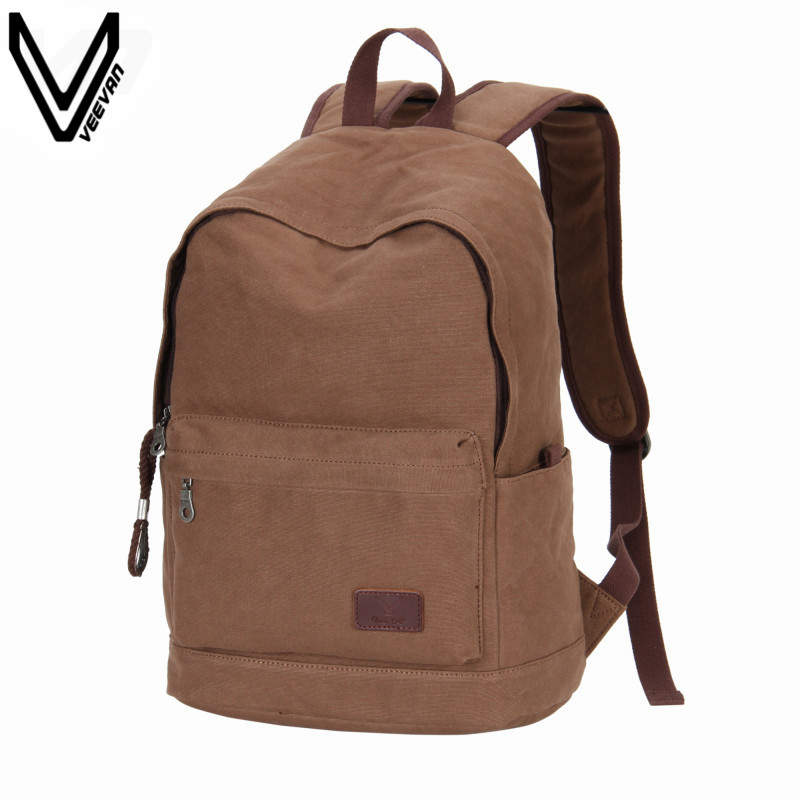цена на 2016 Men Canvas Backpacks College Student School Backpack Male Bags For Teenagers Vintage Mochila Casual Rucksack Travel Daypack