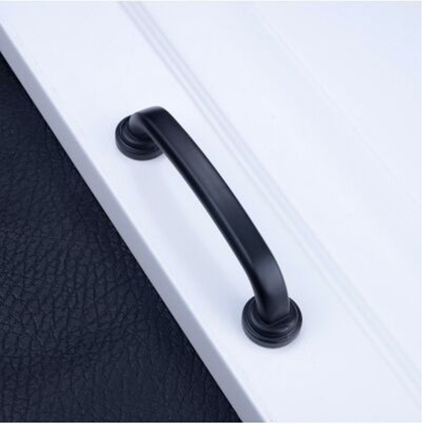 96mm kitchen cabinet handles black zinc alloy drawer dresser cupboard wardrobe furniture door handles pulls knobs  modern simple kak 96mm aluminum handles kitchen door cupboard modern wardrobe handle drawer pulls cabinet knobs with screw furniture hardware