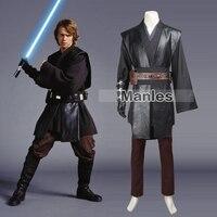 Star Wars Анакин Скайуокер Косплэй костюм Star Wars Jedi рыцарь Дарт Вейдер наряд джедай рыцарский плащ на Хэллоуин индивидуальный заказ