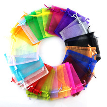 5x7 7x9 9x12 13x18cm Organza Jewelry Packaging Bags Wedding Party Decoration Pouches Favors Drawable Candy Gift