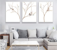 3 Pieces Minimalist Bird S Nest Bohemian Style Canvas Paintings Decoration For Wall Unframed