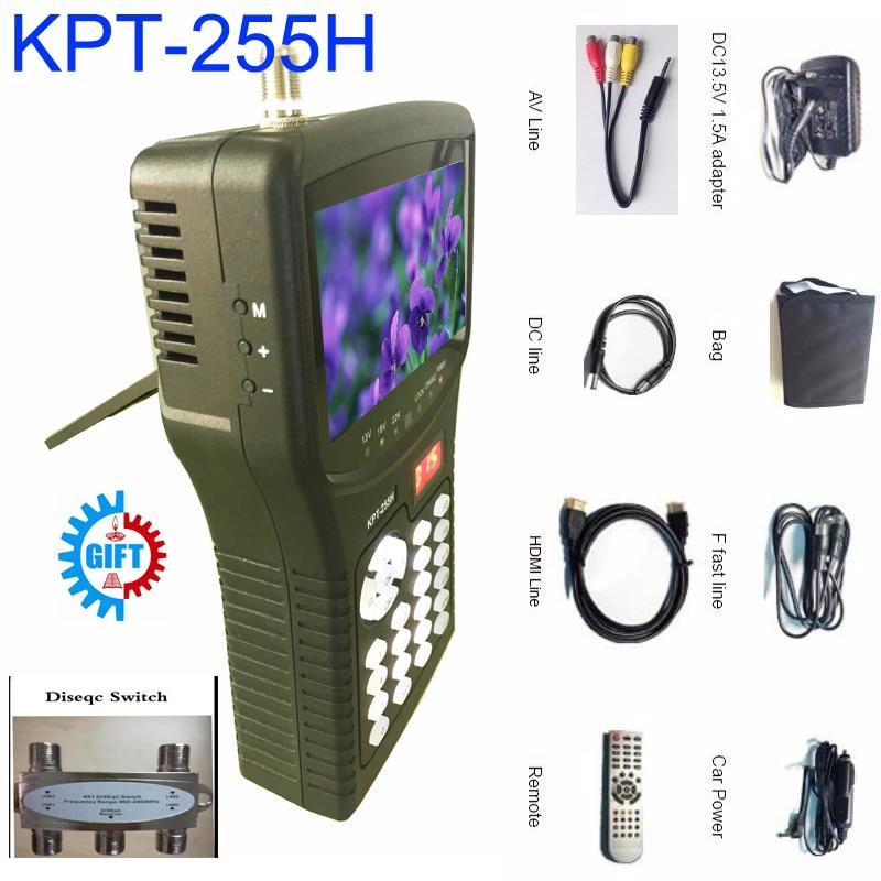 kpt-255h satellite finder Kpt-255h 4.3inch Tft Led Handheld satfinder dvb-s2 Signal sat finder satellite meter ws-6908 BY DHL