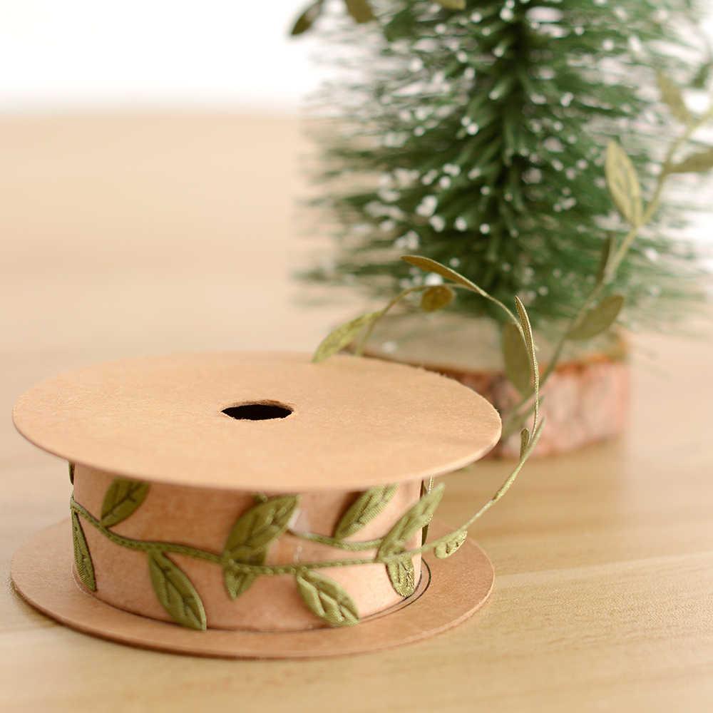 2.5 cm * 100 cm płatek śniegu liście wstążka ozdoby choinkowe ślub Party Xmas Tree Home Valentine dekoracje na dzień