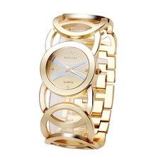 BAOSAILI Marca de Cristal de Lujo de Oro Relojes de Las Mujeres de Las Señoras de Cuarzo Relojes de Pulsera Relogio Feminino Relojes Mujer BS001