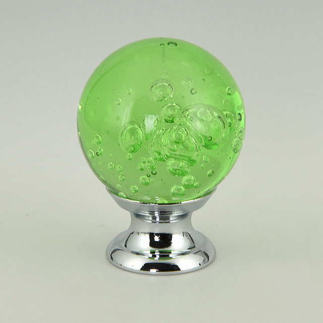 30mm Kristall Cabinet Knob Schublade Ziehen Griff Glas Blase Knob
