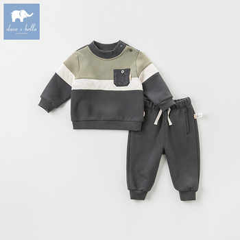DB8446 dave bella autumn baby boys long sleeve clothing sets infant toddler top+pants 2 pcs outfits children high quality suits - DISCOUNT ITEM  50% OFF All Category