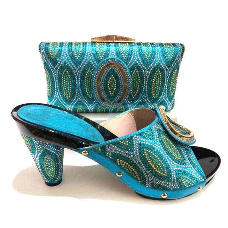 228-3 Italian Shoes With Matching Bags Set Italy African Women's Party Shoes And Bag Sets Bright sky blue Color Women Shoes doershow italian shoes with matching bags set italy african women s party shoes and bag sets pink color women shoes smb1 4