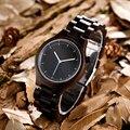 Kenon relogio masculino de luxo da marca dos homens vestido de relógio de madeira de quartzo analógico luxo vestir designer de moda mens relógios de madeira