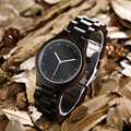 Madera kenon masculino del relogio marca de lujo reloj de cuarzo analógico vestido de vestir diseñador de moda de los hombres de madera de lujo para hombre relojes