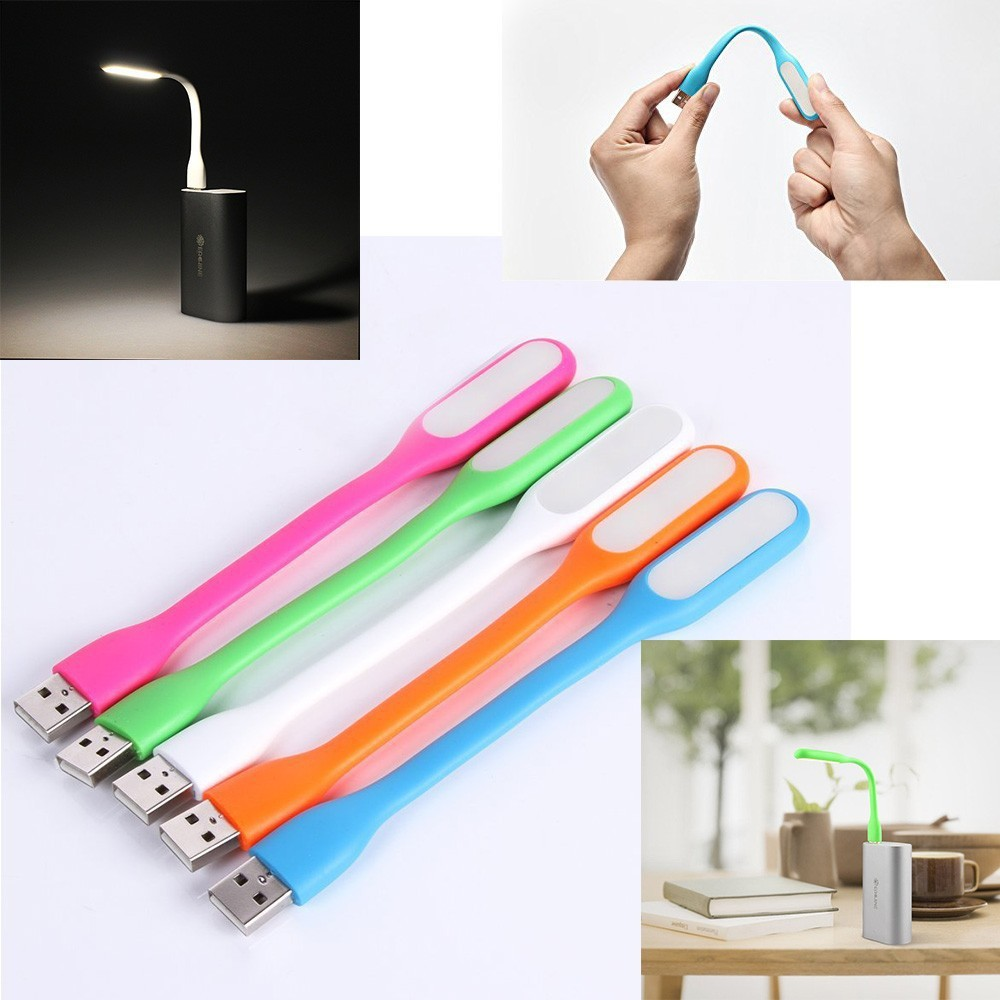 2017 Random Color Mini Adjustable Flexible USB LED Light Lamp Powerbank PC Notebook Perfect for Night