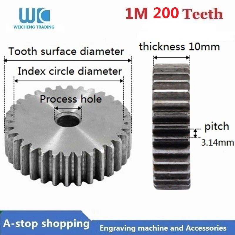 1 M 200 Denti 1Mod 1 Modulo di 200 T dente indurire Cremagliera 45 # in acciaio cnc1 M 200 Denti 1Mod 1 Modulo di 200 T dente indurire Cremagliera 45 # in acciaio cnc