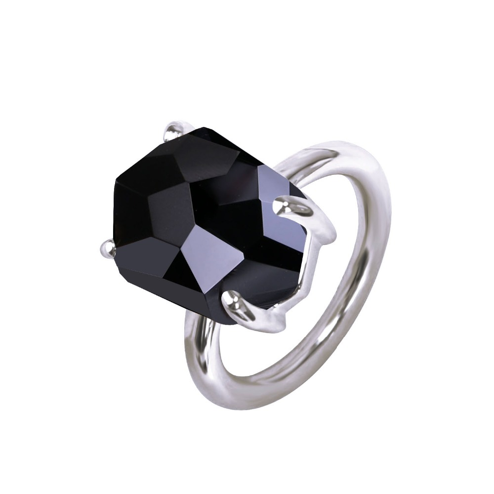 Kayfany 2017 Fashion And Funny Of Irregular Geometric Interface Colorful  Crystal White Gold Color Ring Romantic