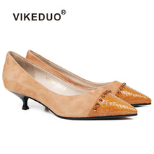 Vikeduo Summer New Womens High Heel Shoes Pointed Toe Wedding Party Shoe Ladies Brand Handmade Zapato de Mujer Plus Size Sapato