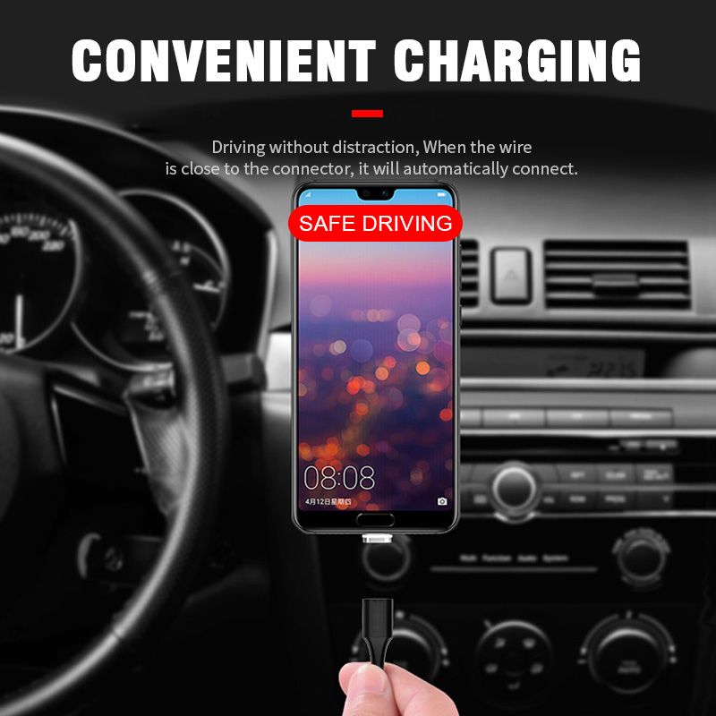 Fast Charging Magnetic USB Cable Type C Magnet Charger Data For iPhone Samsung Xiaomi Oneplus Micro USB Cable Mobile Phone Cable in Mobile Phone Chargers from Cellphones Telecommunications