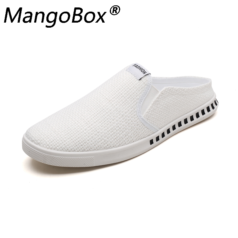 2018 Summer Mens Hemp Slippers Fashion Breathable Absorb Sweat Outdoor Slippers Male Comfortable Man Casual Shoes Linen Slippers