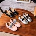 2017 малышей shoes девушки весна повседневная кожаные мокасины маленькая принцесса лук балетки marry янес малыша скольжения на новый мокасины
