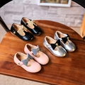 2017 toddler shoes girl's spring casual leather loafers little princess bow ballet marry janes kid slip-on new moccasins