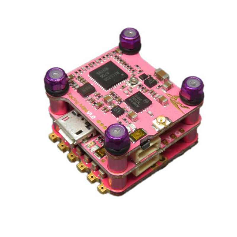 Exuav Mini F4 Flytower Betaflight F4 AIO OSD Flight Controller & 20A 4 in 1 BL_S ESC & 48CH 25/100/200mW VTX original emax f4 magnum all in one fpv stack tower system f4 osd 4 in 1 blheli s 30a esc vtx frsky xm rx