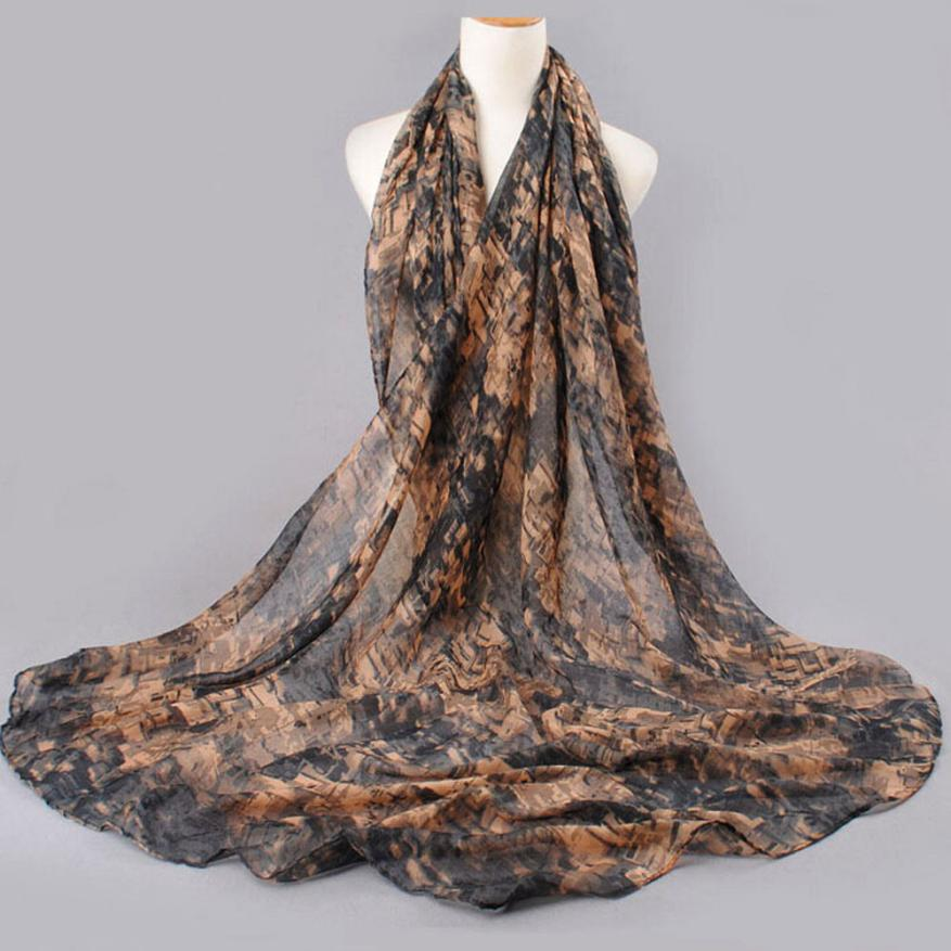 High Quality Soft Women Scarves Beautiful Mixed Color Pattern Voile Shawl Wrap Popular Style Wraps Scarf Scarves Neckerchief