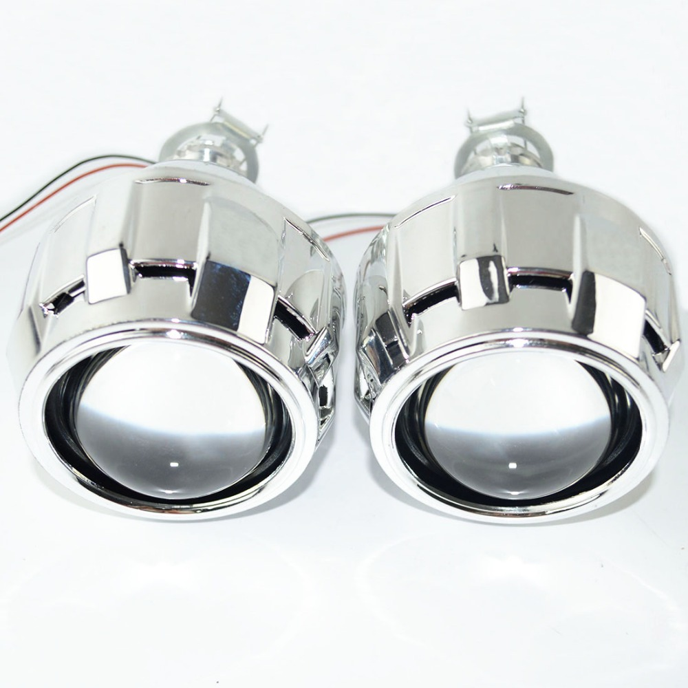 Safego 2 5inch HID BiXenon Projector Lens Kit bi xenon with Shroud bi xenon lens for