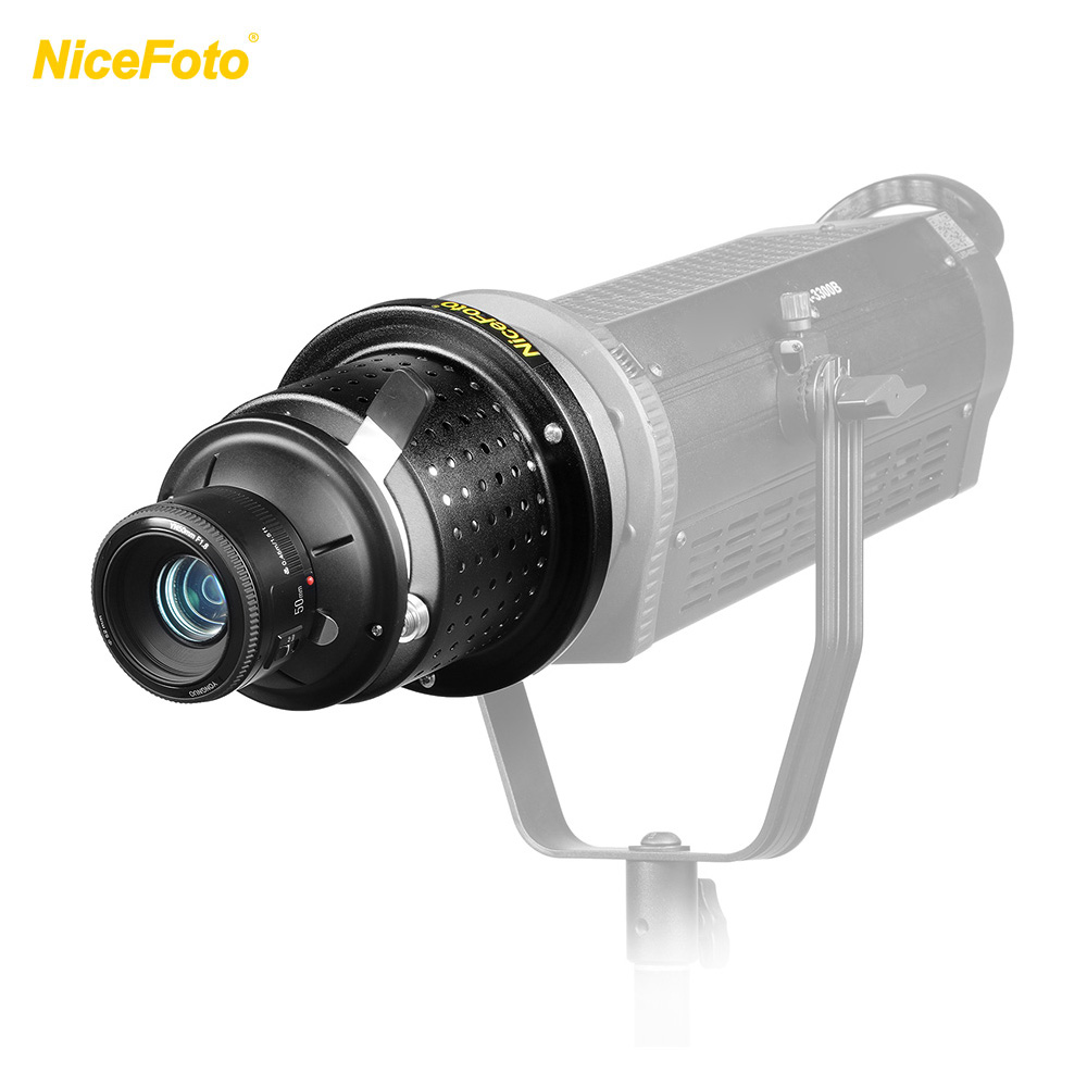 NiceFoto SN-29 Flash Conical Snoot Video Light + YONGNUO YN50mm F1.8 Lens Bowens Mount Photographic Equipment Flash Accessories