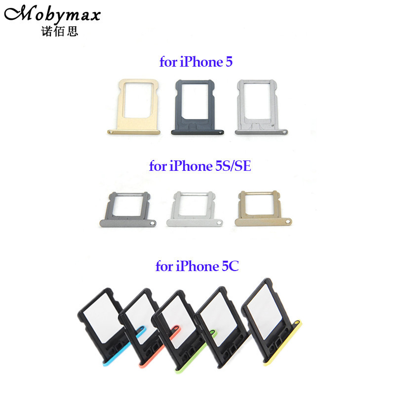 Nano SIM Card Tray Holder For Apple iPhone 5 5S Sim Tray Holder Repair Slot Replacement for iPhone SE 5C Card Adapter Tools