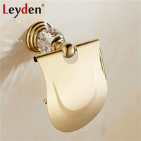 Leyden Crystal Silver/ Gold Toilet Paper Holder Wall Mounted Roll Holder Rack Toilet Tissue Holder Luxury Bathroom Accessories