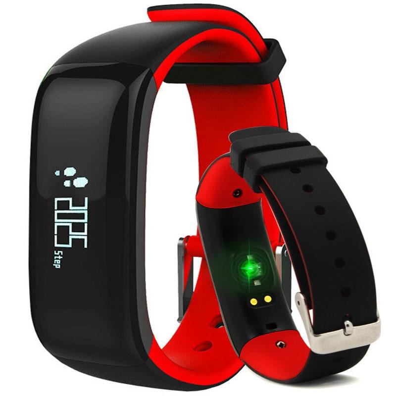 Orologi Monitor di Pressione Sanguigna di Fitness cardiofrequenzimetro Orologio Bracciale Fitness Heart Rate Monitor Wristband P1 Smartband Per xiomi