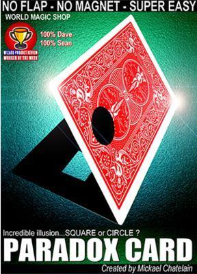 2016 New Arrivals Paradox Card (Gimmick+Online Instruct) - Magic trick,illusions,mentalism,card magic,close up,comdy,props