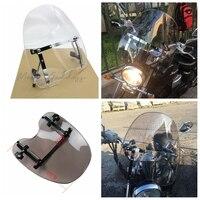 7/8&1 Universal Adjustable Windshield WindScreen Motorcycle For Harley Davidson Honda Suzuki Yamaha Kawasaki Dyna Fatboy