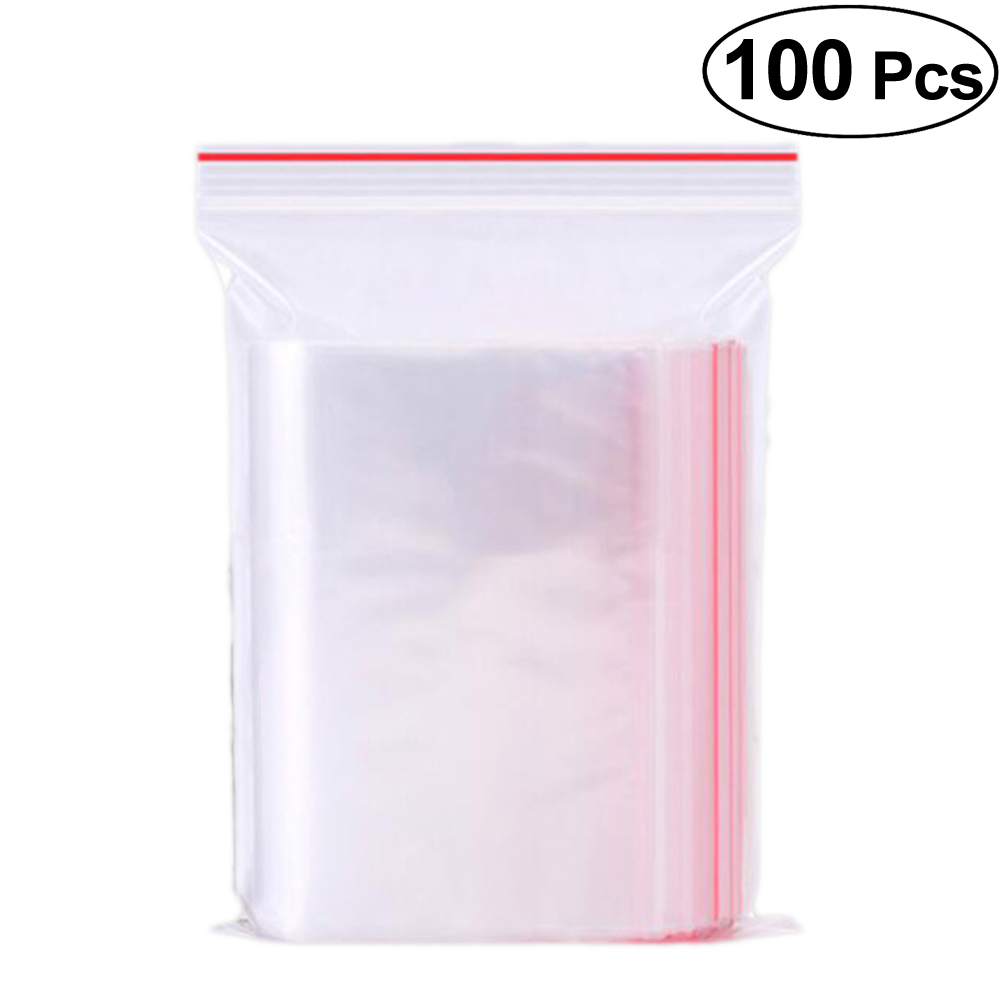 Us 0 77 40 Off 100pcs Sealing Bags Transpa Clear Resealable Zipper Poly Dispenser Bag Storage For Food Little Item Snacks Jewelry In