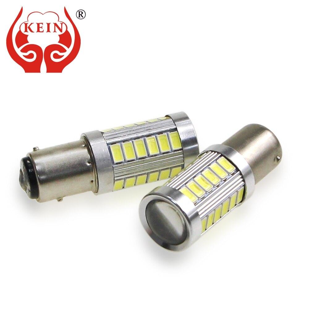Kein 2 pces p21w lâmpada led p21/5w 33smd 1156 ba15s carro 1157 bay15d s25 5630 atuo luzes reversas de freio do carro drl lâmpada sinal auto 12v