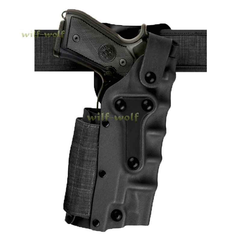 Military Right & Left Hand Adjustable Pistal Belt Waist Holster w/ leg platform Holster Set For Pistol Glock/ 1911 / M9 Sa-3280