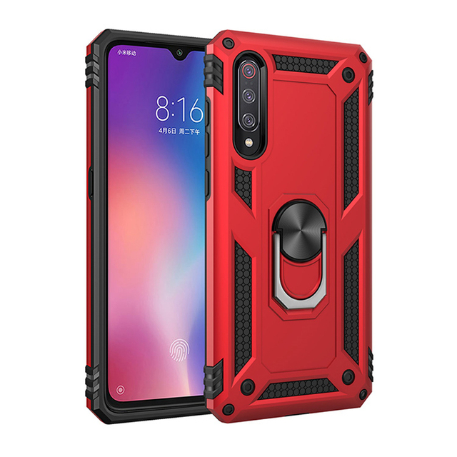 Heavy Duty Extreme Car Magnet Armor Case For Samsung Galaxy A10 A20 A30 A40 A50 A70 M10 M20 Shockproof Cover 360 Ring Stand