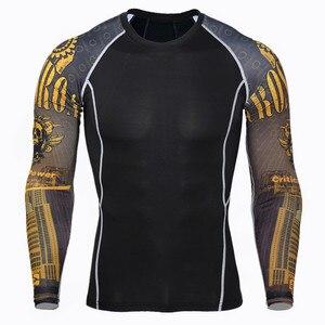 Image 2 - 2020 inverno homem roupas íntimas térmicas treino para homens mma rash guard crossfit compressão camada base de roupas S XXXXL