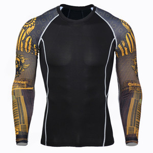 Image 2 - 2020 ملابس رياضية شتوية رجل ملابس اخلية حرارية رياضية للرجال كنزة لياقة بدنية للفنون القتالية المختلطة كروسفيت ضغط الملابس قاعدة طبقة S XXXXL